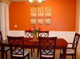 Eyecatching Orange Dining Room Paint Colors
