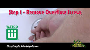 Bathtub Drain Lever Stopper Removal by Watco Trip Lever Overflow Plate Simple Removal Youtube