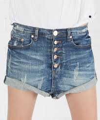 pure bleu lovers denim shorts oneteaspoon