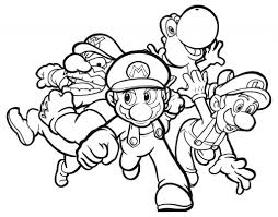 Video Game Coloring Pages Free Printable Mario For Kids Pictures
