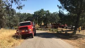 100 Black Fire Truck Near Ramona 60 Contained