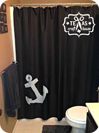 Make Your Own Nautical Shower Curtain