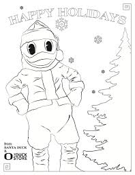 6081Mini A Santa Duck Coloring Page Perfect For The Kids Howiholiday Anaheim