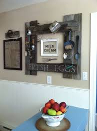 Stunning Diy Kitchen Wall Ideas With Fruit Place Above Blue Table