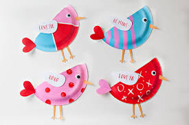 Valentines Day Craft Paper Plate Love Birds