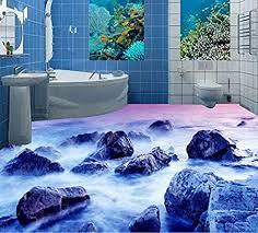 ddbbhome 3d tapete für badezimmer wasserfest für böden 3d