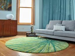 green rounded area rug for living room decorations parquet