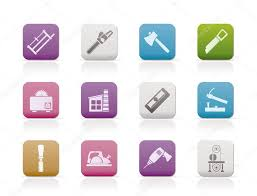 Woodworking Industry And Tools Icons Stock Vector