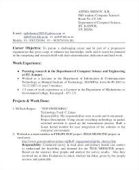 Sample Resume Pdf For Assistant Professor In Computer Science Luxury Example Summary