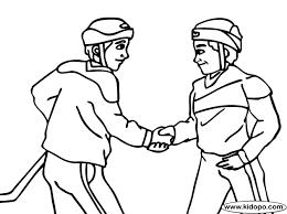 Shaking Hands Coloring Page