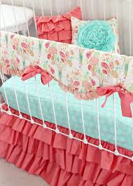 Aqua And Coral Crib Bedding by Best 25 Coral Baby Bedding Ideas On Pinterest Coral Girls Rooms