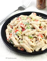 Creamy Pasta In White Sauce
