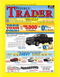 Weekly Trader September 24, 2015 By Weekly Trader - Issuu Tesla Factory Racing To Retool For New Models Fremont Calif Chrysler Affiliate Program In Tucson Az Larry H Miller Yamaha Three Wheeler Atvs For Sale Atvtradercom Ford F250 Truck With Sport King Camper Side View Trucks Upgrades 2015 Fseries Super Duty V8 Diesel Engine Deliver Michigan Wikipedia American Dreams 16119 Ctham Dr Clinton Township Mi 48035 Photos Videos More Carrier Transicold Of Detroit Celebrates 50th Anniversary Rvs Rvtradercom Team Nissan North New Dealership Lebanon Nh 03766 Wine Industry Research State Department