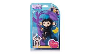 Fingerlings Monkey Finn Black With Blue Hair