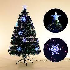 6 Pre Lit Artificial Christmas Tree Fiber Optic Scattered Light Multi Color LED