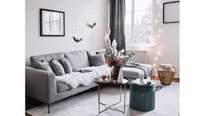 makeover im wohnzimmer möbel deko in natur grün