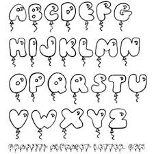 Cute Bubble Letters Graffiti Fonts