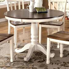 kitchen table Redwood Kitchen Table Two Tone Round With Pedestal