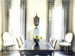 Modern Dining Room Curtains Curtain Ideas Blue