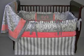 Coral Colored Bedding by Leanne Baby Bedding 2347 289 00 Modpeapod We Make Custom