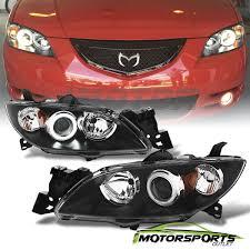 Great CCFL Halo 20042009 Mazda 3 Sedan BLK Projector Headlights
