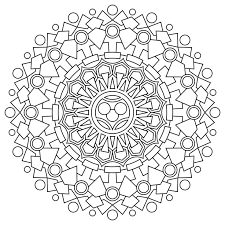 Free Printable Mandala Coloring Pages Can Print Directly From The Site Or Download PDF