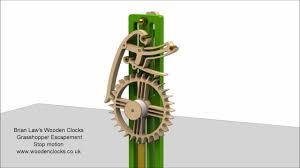 brian law u0027s wooden clocks grasshopper escapement stop motion