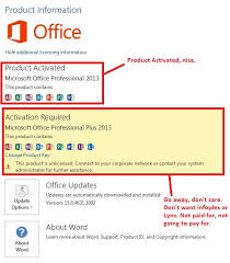 fice 2013 Pro Activated AND fice 2013 Pro Plus Not