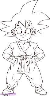 Imagen De Goku Niño Para Colorear Cotillon Kids Dragon Ball