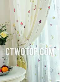 Yellow And White Curtains For Nursery by And Red Purple Star Casual Unique Best Nursery Kids Curtains
