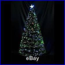 6Ft 7Ft Artificial Christmas Tree Fiber Optic Pre Lit LED Multi Colored