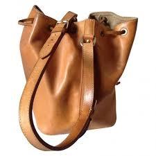 sac porté épaule louis vuitton noé beige cuir réf a70393