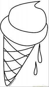 Free Coloring Page Ice Cream Cone Picture Rainy Day Kids