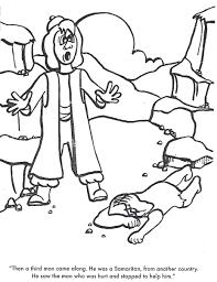 BIBLE COLORING PAGES The Good Samaritan