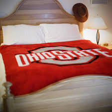 Ohio State Buckeyes Luxury Blanket Throw Denali Home Collection