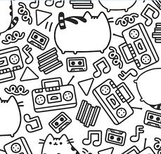 Pusheen Coloring Book Cartoon Cat Art Color