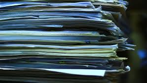 Stacks Of Old Papers Office Documents Paper Work Stock Footage Video 13369079