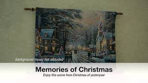 Thomas Kinkade Christmas Tree Uk by Memories Of Christmas Tapestry Youtube
