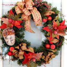 Christmas Wreath Mountain Rustic Decor Front Door Holiday