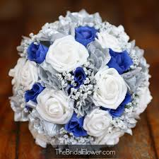 Blue And Silver Wedding Bouquets Royal White Image Idea Just Sunflower Bouquet