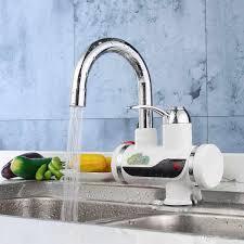 großhandel 220v 3000w elektrischer warmwasserbereiter küchenarmatur tankless sofort heizung küche mischer hahn haushalt led digitalanzeige