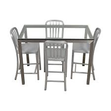 85% OFF - Crate & Barrel Crate & Barrel Parsons Glass And Metal High Table  Set / Tables Toddler High Chairtable Set 2 In 1 Baby Wooden Feeding High Chair And Similar Items Good Quality Ding Room Sets Best Fniture Table Set Of 6 Mid Costzon 3 Convertible Play Booster Rocking Seat With Removable Retro Small Montero Four And Clearance Gloss Labe With X2 Chairs Brand New Kids Children Blue Boys Girls Huddersfield West Yorkshire Gumtree Bistro Rental For Kitchen Asda Infant 4 Snacker Solid Detachable Highchair Adjustable Tray 3position