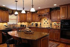 Impressive Dark Oak Kitchen Cabinets Remodel With Walls Interiors
