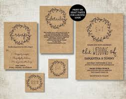 Simple Wedding Invitation Templates Template Classic Wreath Invite Free