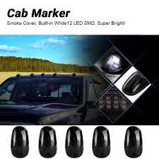 5pcs Cab Marker Lights Smoke Cover 12 White LED Roof Top Clearance ... Gmc Chevy Led Cab Roof Light Truck Car Parts 264155bk Recon 5pc 9led Amber Smoked Suv Rv Pickup 4x4 Top Running Roof Rack Lights Wiring And Gauge Installation 1 2 3 Dodge Ram Lights Wwwtopsimagescom 5 Lens Marker Lamps For Smoke Triangle Led Pcs Fits Land Rover Defender Rear Cabin Chelsea Company Smoke Lens Amber T10 Cnection Dust Cover 2012 Chevrolet Silverado 1500 Cab Lights Youtube Deposit Taken Suzuki Jimny 13 Good Overall Cdition With Realistic Vehicle V25 130x Ets2 Mods Euro Truck