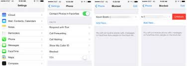 iOS 7 feature focus Block calls texts and FaceTimes from
