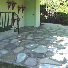 paint cement patio floors to look like cobblestones decorative