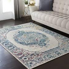 modern contemporary elias gray teal area rug allmodern