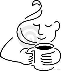 Man Drinking Coffee Clipart