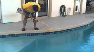 removing calcium line from pool